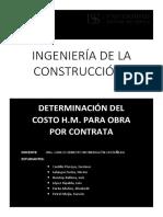 DETERMINACION DEL COSTO H.M