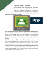 Pengertian Google Classroom