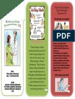 Leaflet Depan Tanda Bahaya Kehamilan Trimester 3