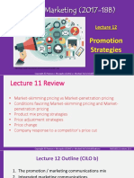 Marketing - Lecture 12 - Promotion