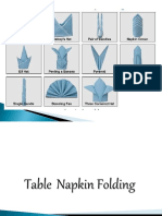 Table Napkin Folding