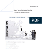 Diferencia Entre Grupo y Equipo Con Sinergia - Pedro Pantaleon Bartolo