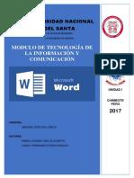 Modulo de Maicrosof Word T.I.C