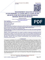 PERFORMANCE MEASUREMENT ANALYSIS OF RANDOM ACCESS MEMORY, L2 CACHE AND L1 CACHE ON X86 ARCHITECTURE WITH MICRO BENCHMARKING MEMORY MOUNTAIN METHOD