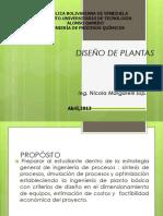 Clase 1. Introducción Diseño de Plantas . Primera Clase.