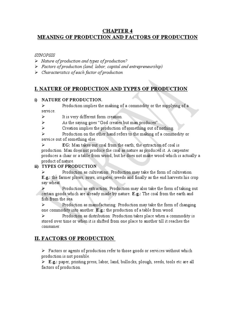 Labor as a factor of production 100