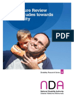 0048-01 NDA Public Attitudes Disability 2006 Literature Review