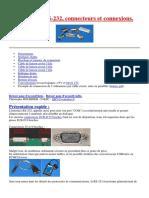 Port Série, RS-232, Connecteurs Et Connexions