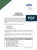 AuditNet 107-QC Checklist-Fieldwork