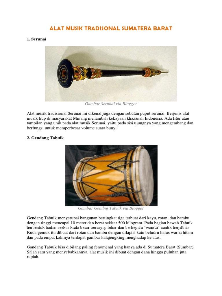 86 Gambar Alat Musik Sumatra Barat Paling Keren