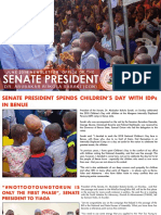 OFFICE OF THE SENATE PRESIDENT, DR. ABUBAKAR BUKOLA SARAKI, NEWSLETTER. JUNE 3RD, 2018