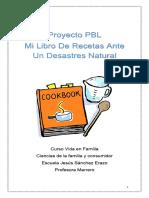 mi libro de recetas ante un desastres natural para copiar