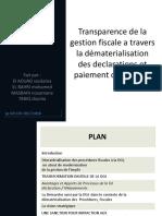 Transparence de la gestion fiscale a travers la.pptx