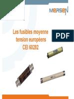 Les Fusibles Moyenne Tension Européens CEI 60282