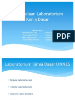 Identifikasi Kloroform Pengelolaan Laboratorium KimDas
