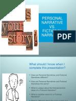 Personal Narrative vs Fictional Narrative (1)