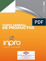 Tarifa Inpro 2018