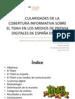 particularidades de la cobertura informativa del TDAH de los medios digitales en España en 2016