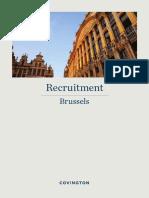 Covington Brussels Recruitment Brochure