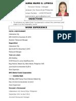 Joanna Marie LIPNICA Resume 2017 (1)