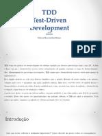 Introdução TDD Test Driven Development
