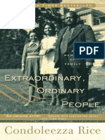 Extraordinary, Ordinary People by Condoleezza Rice - Excerpt