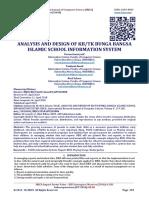 ANALYSIS AND DESIGN OF KB/TK BUNGA BANGSA ISLAMIC SCHOOL INFORMATION SYSTEM