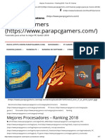 Mejores Procesadores – Ranking 2018 – Para PC Gamers