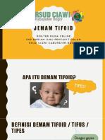 PPT Penyuluhan Tifoid