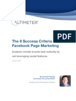 The 8 Succes Criteria for Facebook Page Marketing