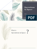 Operations in Space