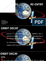 Re Entry and Orbital Decay