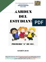 Caratulas de Kardex de Los Estudiantes