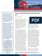 Turkey's Cabinet Reshuffle