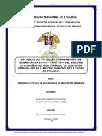 Influencia Del Programa de Prevencion Yo Me Quiero (Aponte, C; Muñoz, A)