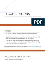 Legal Citations u 1
