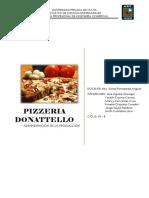 Administracion de La Produccion PIZZa Donatelo