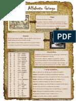 Infografia de Alfabeto giego