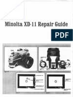 Minolta XD-7 (XD11 IN USA) Repair Manual