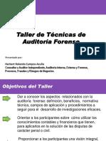 1. Presentación Taller de Técnicas de Auditoría Forense