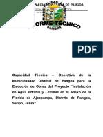Informe Capacidad Tecnica-operativa La Florida de Ajospampa