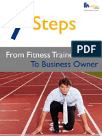 7 Steps Fitness Trainer to Business Owner