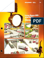Sylvania BeamKat HID Floodlight Series Brochure 1984