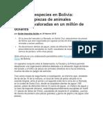 Tráfico de Especies en Bolivia
