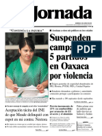 La jornada DOMINGO  3 DE JUNIO DE 2018