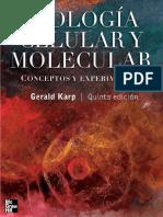 Daniela R Biologia Celular y Molecular - Karp - 5ed