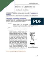 Purificación de Sólidos- Laboratorio