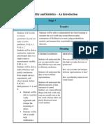 alg1 - probability and statistics unit