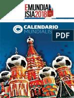 Calendario Mundial 2018 Descargable