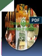Tecnicas Especiais de Conservação de Alimentos